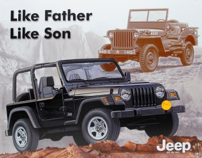 Like father like son Jeep