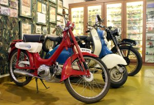 Classic mopeds scooters and motorcycles