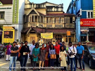 Heritage walk by Houses of Mylapore