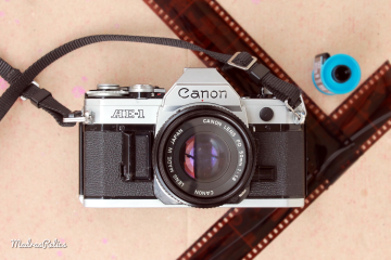 Canon AE 1 35mm film camera